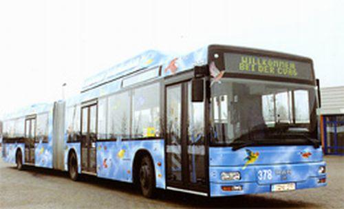 Niederflur-Gelenkbus MAN NG 313 CNG