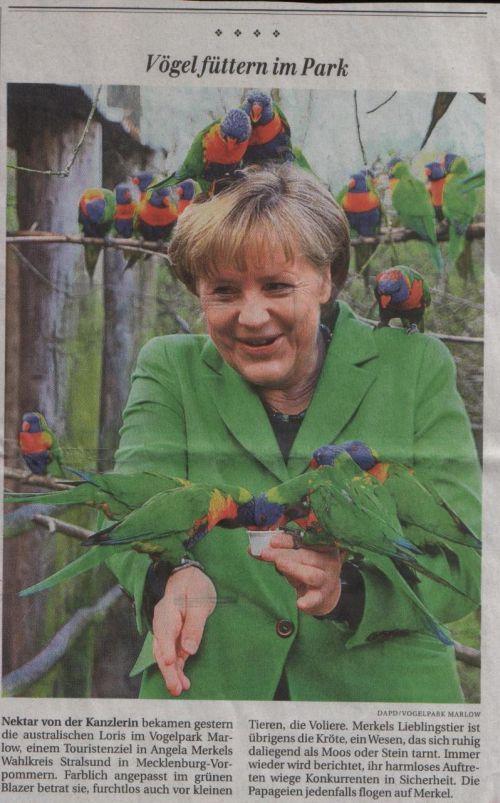 Kanzlerin im Vogelpark Marlow