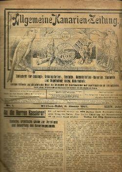 Allgemeine Kanarien-Zeitung